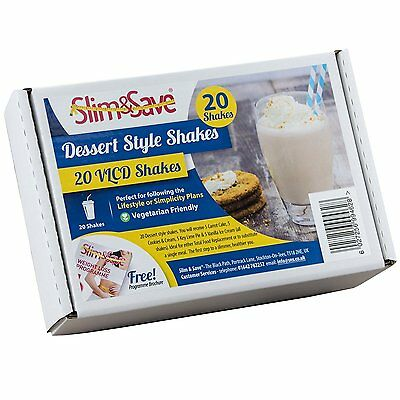 20 Slim & Save Dessert Style Shakes- High Protein Low Carb Meal Replacement VLCD