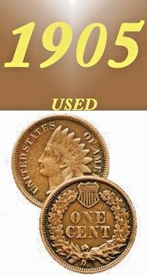 1905 Indian Head Used Nice Looking Penny===Used===Copper==