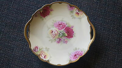 Large Hand Painted Porcelain plate- Hohenzollern China - Germany c:1930