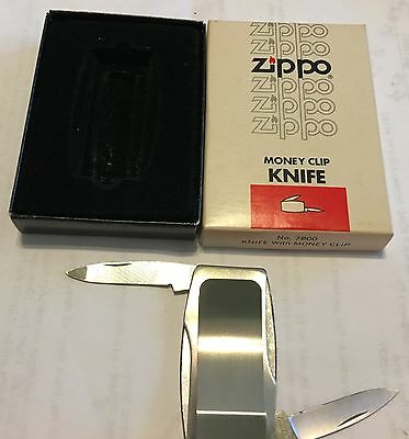 Zippo Pocket Knife Money Clip - Advertising  Meilink Means Business in Box MIB