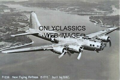 1942 Boeing Aircraft Corp Flying Fortress B-17-E Usaf Bomber Wwii Photo Aviation