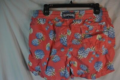 """Classic Large Red """"Blueberries"""" by VILEBREQUIN Men's Swim Trunks/Bathing Suit"""