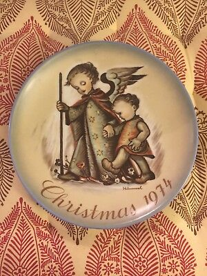 "Schmid Bros ""the Guardian Angel"" By Sister Berta Hummel Porcelain  Plate 1974"