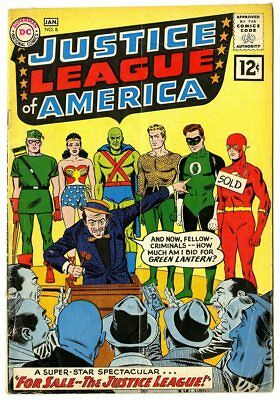 Justice League of America #8 VG- 3.5  JLA For Sale!  DC  1962  No Reserve