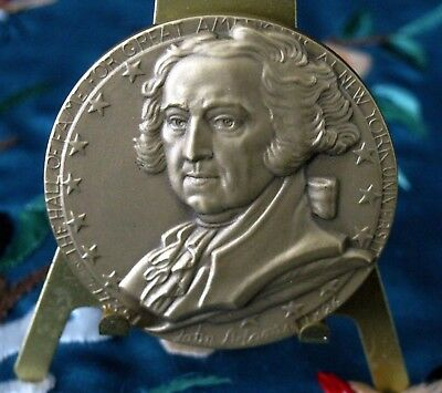 44mm - JOHN ADAMS - HALL OF FAME GREAT AMERICANS - NYU  MEDAL by Donald DeLue
