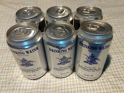 RARE Anheuser Busch Emergency Issue Drinking Water 6-Pack June 1998