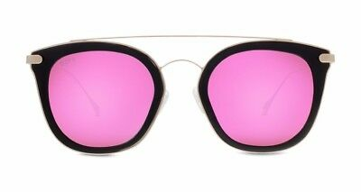 DIFF Eyewear Sunglasses - Zoey Black Frame w/ Pink Mirror Lens - Womens - NEW!