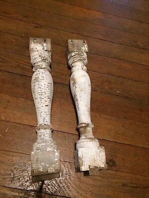 2 Antique Corbel Spindles Architectural Salvage Handmade