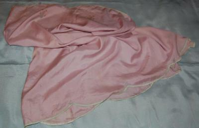 Antique Lilac Silk Underskirt Damaged Cutter Restoration Sewing Dolls c1920s