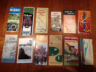 Vintage Lot of 1960's Japan Travel Brochures, Maps, Currency and Tickets