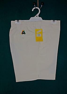 Lawn Bowls Clearance: NEW HENSELITE PL-05 Mens Sz 82 Cream Shorts  FREE SHIPPING