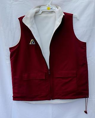 Lawn Bowls Clearance: NEW Domino Reversible Vest Size 12 Maroon FREE SHIP