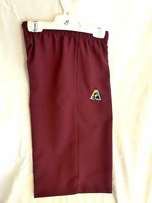Lawn Bowls Clearance: NEW Domino Ladies Shorts Size 8 Maroon FREE SHIPPING