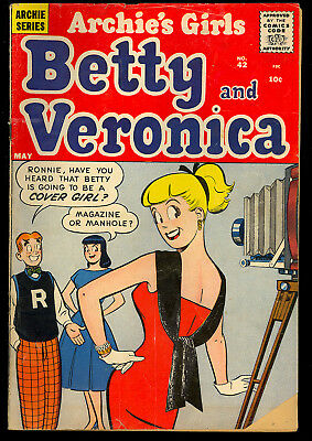 Archie's Girls Betty and Veronica #42 Nice Silver Age Teen Comic 1959 GD-VG