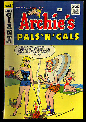 Archie's Pals 'n' Gals #17 Very Nice Betty & Veronica Pin-Up Comic 1961 VG+