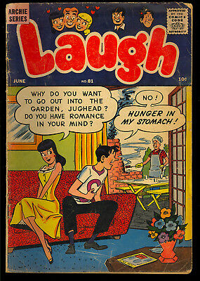 Laugh Comics #81 Nice Silver Age Archie Betty & Veronica Comic 1957 VG-