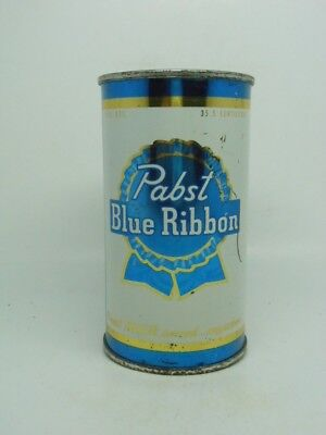 GOLD TRIM-BO-VANITY LID-Pabst Flat Top Beer Can-Peoria Heights ILLINOIS