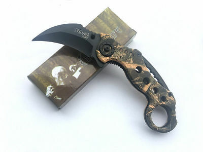 SOG Knife Assisted Opening Karambit Folding Game Claw Knife Hunting Hiking cjh