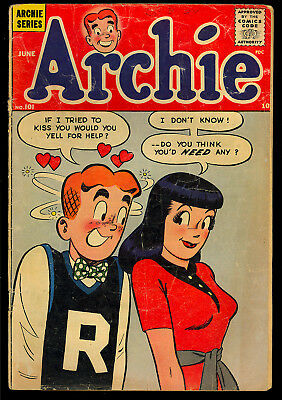 Archie #101, Pep #108, Jughead #67, Little Archie #12 Incomplete GROUP (4) 1959