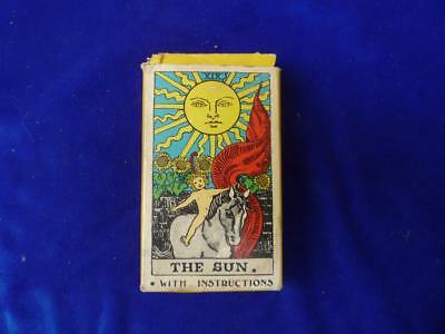 1968 Smith & Waite The Sun Tarot 78 Card Deck + Instructions Albano Waite