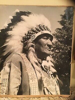 CHIEF BENJAMIN LITTLE CREEK Original Large Format Photo