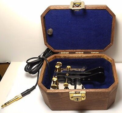 "Begali Simplex paddle Morse Code Key, HAMGADGETS Ultra Pico Keyer & ""Tomb"" case!"