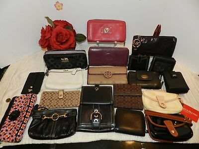 LOT of 20 Wallet COACH  FOSSIL DOONEY&BOURKE MARC JACOBS MICHAEL KORS- VGUC