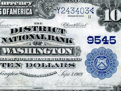 HGR 1902 $10 National ((Wanted WASHINTON D.C.)) VERY HIGH GRADE