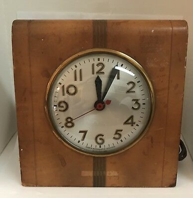 Southern Select Beer LEATHER DESK CLOCK Galveston, Texas