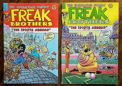Fabulous Furry Freak Brothers The Idiots Abroad Part 1 & 2 Rip Off Issues 8 & 9