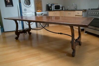 Spanish Provincial Dining Table, Solid Fruitwood, Hand built & Aged Finish