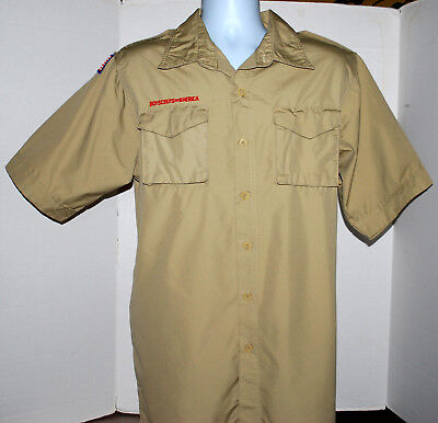 Boy Scout Shirt Adult Medium With Patch