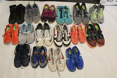NIKE (16 Pairs) Lot Wholesale Used Shoes Rehab Resale Mens Womens Kids dOq