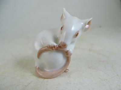 "Vintage B&G Bing & Grondahl Figurine Mouse Mice Porcelain Denmark 3/4"" Tall Old"
