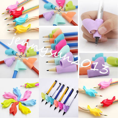 3PC Silicone Children Pen Holder Writing Aid Grip Posture Correction Device Tool