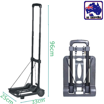 Compact Folding Steel Hand Truck Trolley Shopping Luggage Cart 35KG CTOC79905
