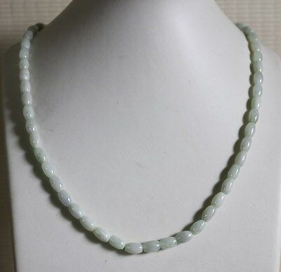 100% Natural A-Grade Untreated Icy White Chinese Jadeite JADE Necklace #N167