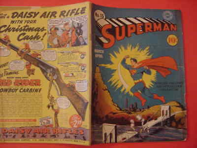 1942 Superman, #15,  Golden Age, Vg Cond, See Info