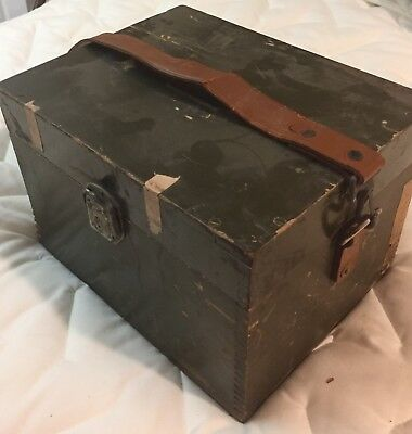 SEXTANT AF-44 7140 Bubble Type Bausch & Lomb Original Wooden Box US Air Force