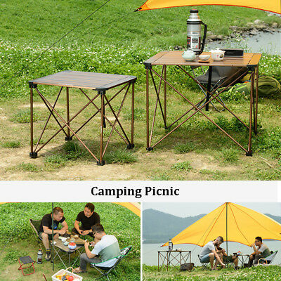 Folding Table Portable Plastic Auminum Indoor Outdoor Picnic Dining Camping Desk