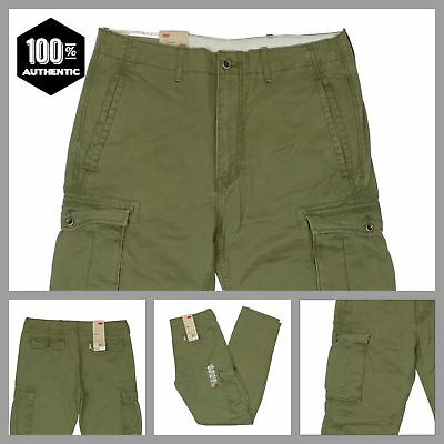 bf581f2c Levis Ace Cargo Pants Ivy Green Mens Relaxed Fit 100% Cotton MANY SIZES NEW