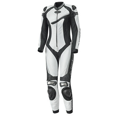 Held Ayana II White / Black Ladies Slim Fit One Piece Leather Suit | All Sizes