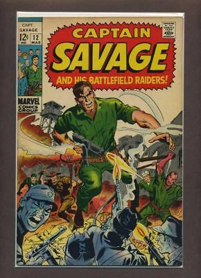 Capt. Savage and His Leatherneck Raiders #12 F/VF 1969 Marvel Comic Book