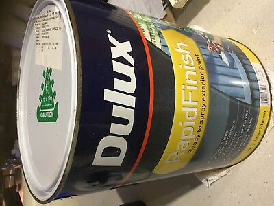 10 Litres Dulux Rapid Finish Paint, Low Sheen, Exterior/Interior. In Jade Blue