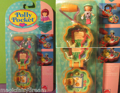 Polly Pocket Mini NEU ♥ Blumen Kettchen ♥ Camp Days Locket ♥ OVP ♥1991 ♥NEW ♥