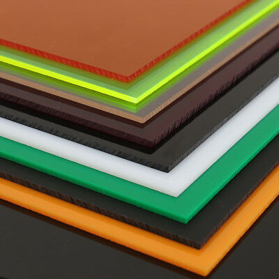 A2 A3 A4 A5 A6 Acrylic Perspex Sheet Cut to Size Panel Plastic Satin Gloss Color
