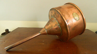 Antique  Large Copper Funnel Brewery 19th C. W. H.Heath London H1