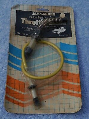 FORD ESCORT MkII ALEXANDER NYLON LINED THROTTLE CABLE NOS