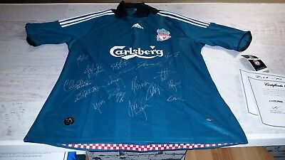 Signed Liverpool Soccer Jersey