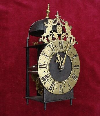 Rare Mid 18Th C French Iron Framed Lantern Clock Formerly Verge Escapement